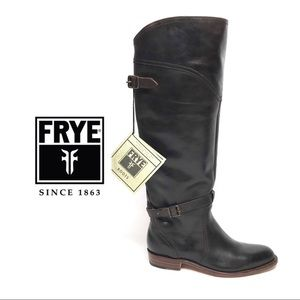 Frye Dorado Leather Riding Boots Womens Brown 7.5